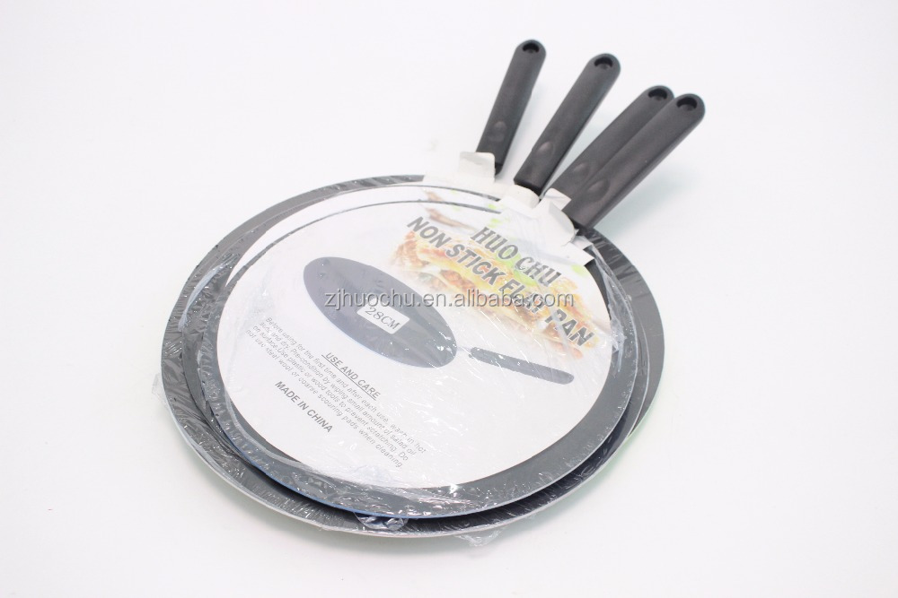Huochu kitchenware and cookware aluminum Indian tawa pan with non-stick coating