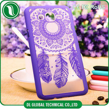 design mobile phone cover for samsung j7 dreamcatcher back cover for samsung j7 rubberized PC back cover