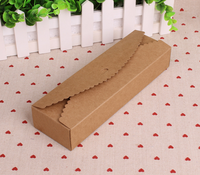 Long kraft paper biscuit chocolate and macarons cake box