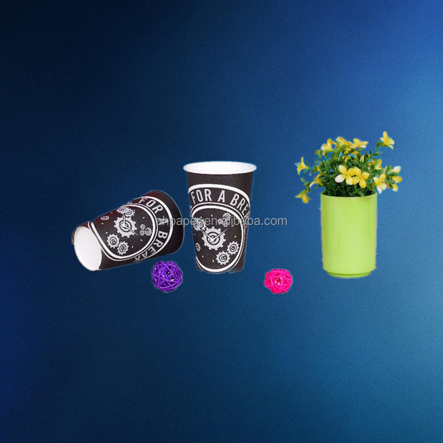 Disposable Eco Friendly Stocked Biodegradable double wall disposable coffee paper cups for hot drinking