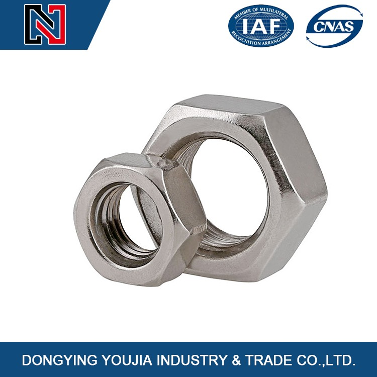 China Stainless steel hexagon serrated nuts