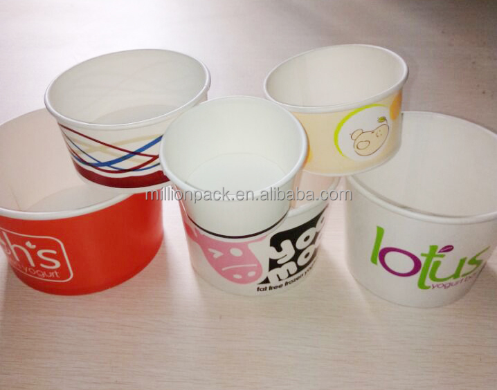 paper ice cream cups Eco-friendly and versatile, these paper bowls can be used as soup containers or ice cream cups available in a variety of sizes, these disposable paper soup / ice cream cups have two different lid options and are 100% compostable.