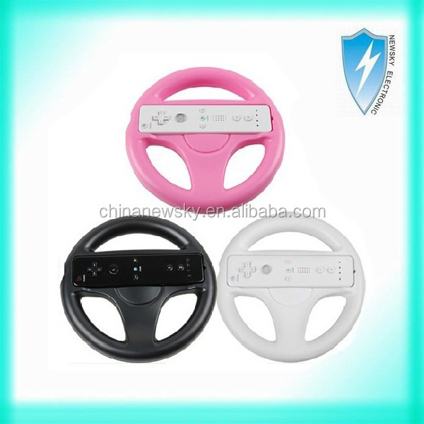 Made in China colorful Racing gaming steering wheel for nintendo Wii