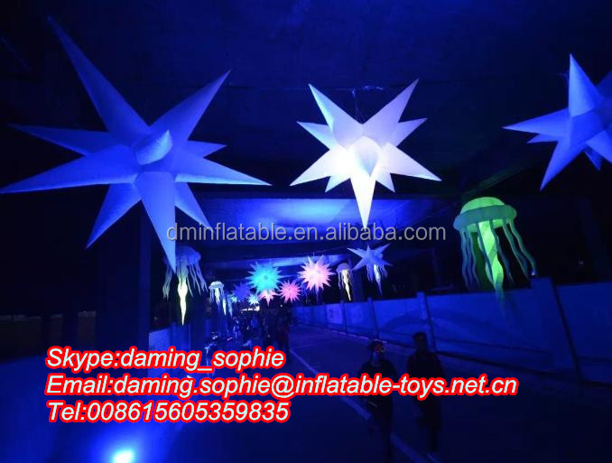 LED inflatable lighting Stars for night events Decoration