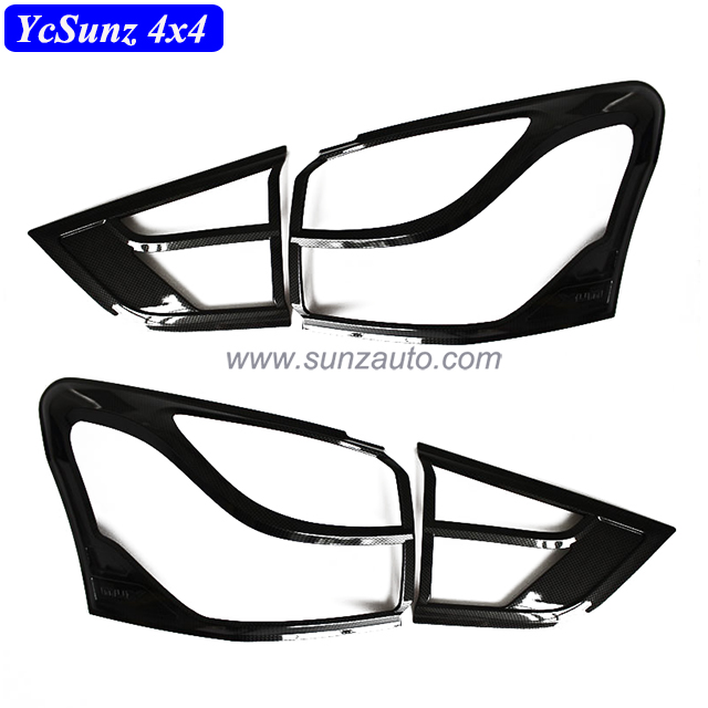 4X4 ABS Plastic Tail light cover Carbon fiber Tail lamp cover For Mux 2014 Accessories
