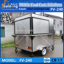 Electric mobile stainless steel food cart commercial hot dog cart-hot dog van