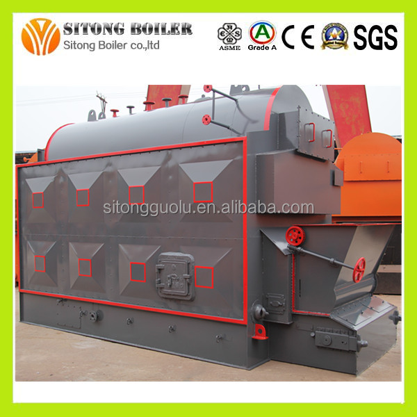 Industrial Usge Safety Value 2-10t automatic dzl steam boiler