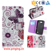 Colorful printing pu leather case flip cover for Gionee S6 for other mobile phone
