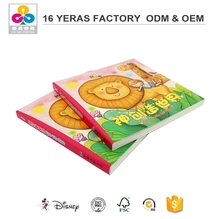 Manufacture printing customized recordable custom cardboard english children book