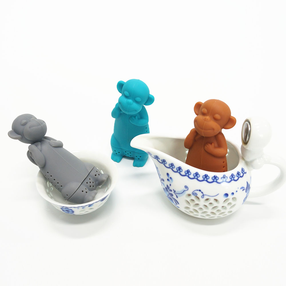 New Arrival BPA Free Silicone Tea Infuser Animal Shape Tea Maker