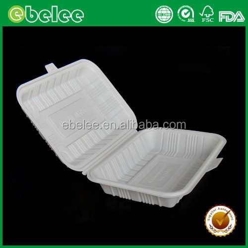 Ebelee disposable corn starch food packaging box lunch box