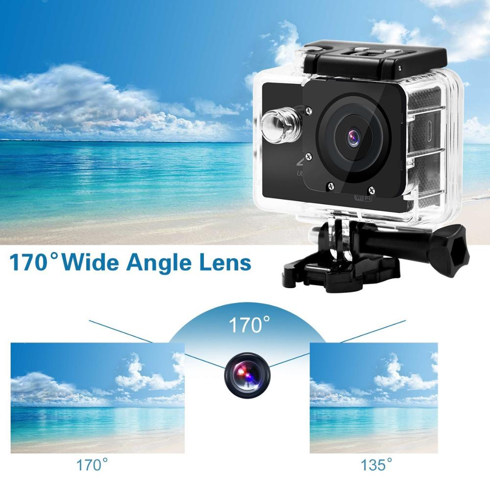 Christmas promotion Go Pro Style Full Hd Wifi Night Vision 170 degree 4k@30fps Sport Action Camera 16MP