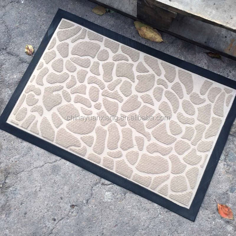 Stone Pattern Beige Welcome Home Door Mats