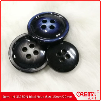high quality new resin four holes customs suit button