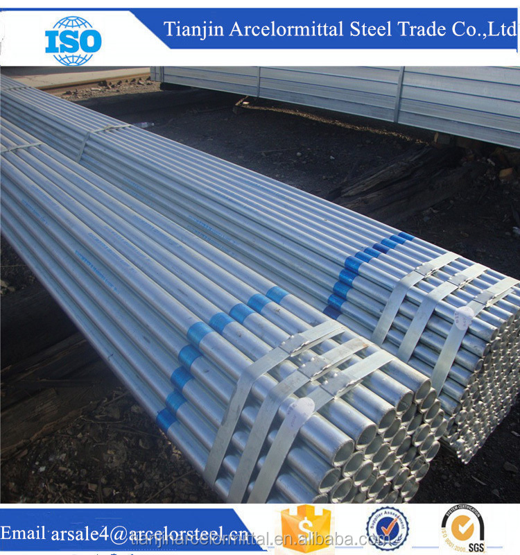 2016 Tianjin Construction Scaffolding Material Hot Dipped Galvanized Steel Pipes and Tubes For Sale