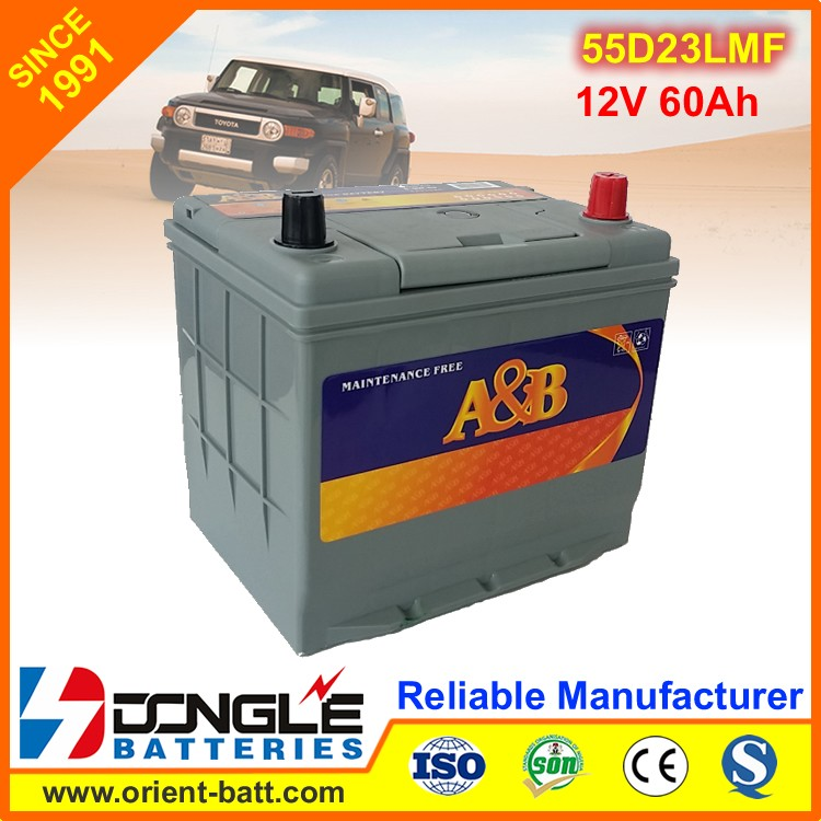 55d23l Extreme Power Car Battery motor vehicle spare parts