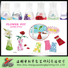 home decoration plastic unbreakable foldable flower vase