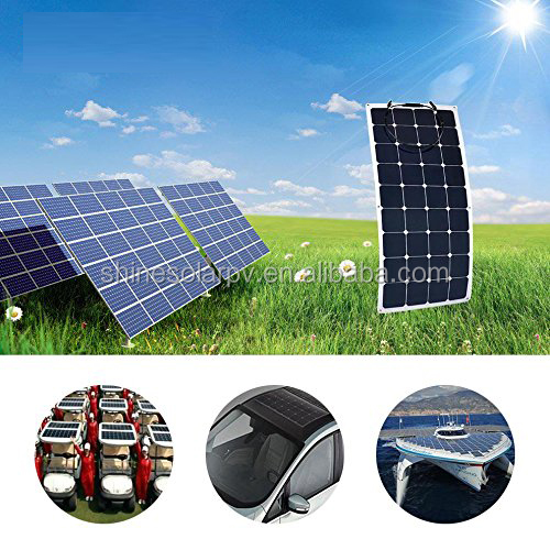 100W 12V Sunpower Solar Panel for 12V Charge Battery flexible solar panel for boats