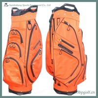 custom make orange golf bag