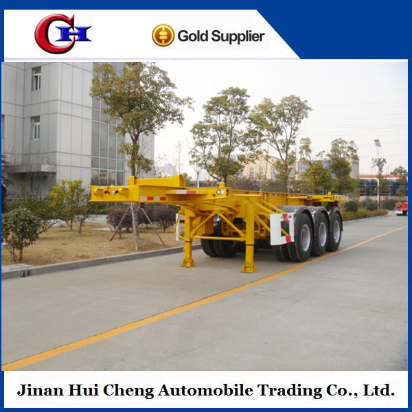 20ft 40ft container skeleton semitrailer boat trailer for sale