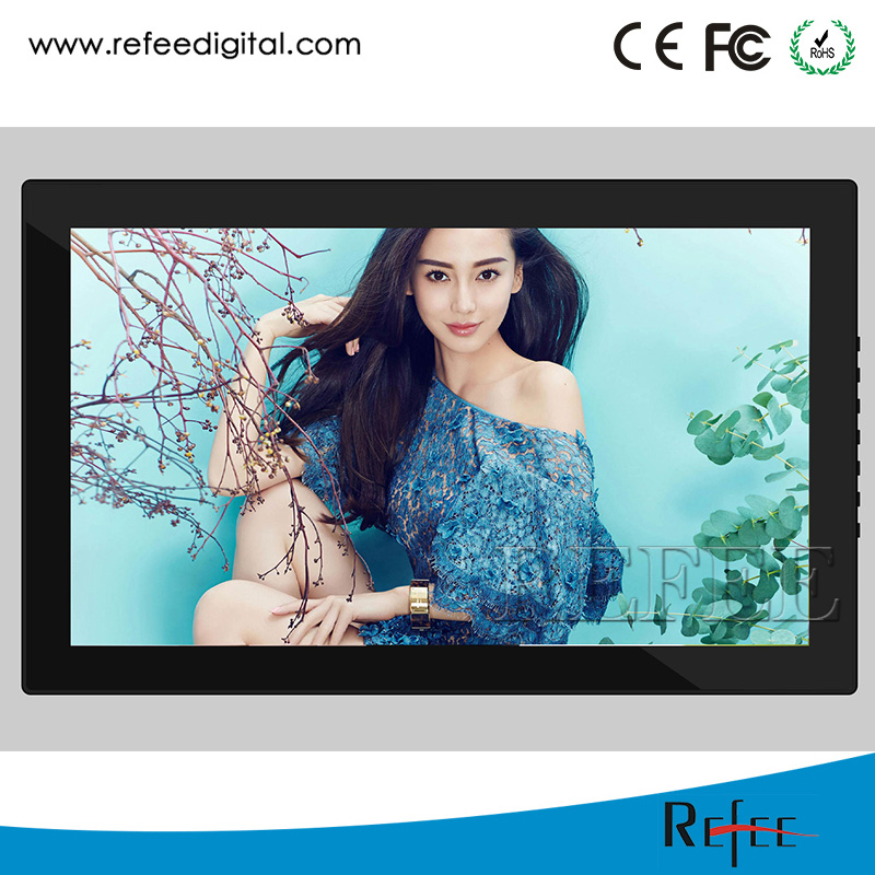 "32"" wall mounted capacitive touch display indoor digital advertising screens"