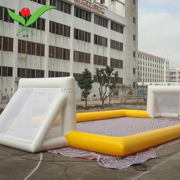 Hot playground soccer game inflatable football field for sale
