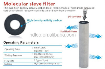 China factory hot sale activated carbon water filter
