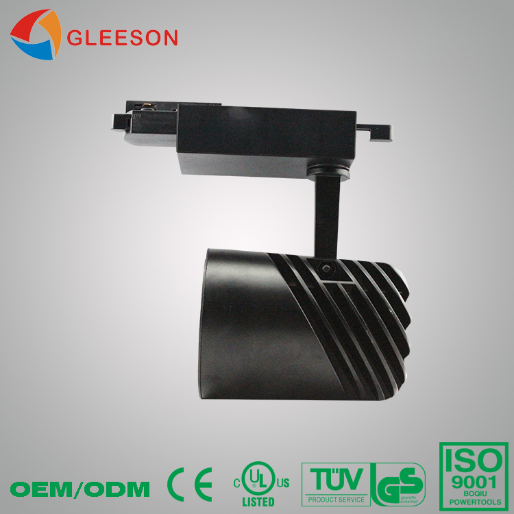 2016 new version High lumen 4 wires 3 circuit black aluminum case 40W 45W led track light