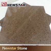 Brown engineered quartz stone sheet