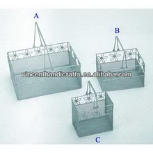 Different shapes metal wire mesh file baskets office supply baskets wholesale
