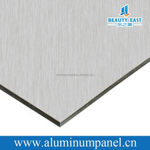 brushed aluminium composite panel 3mm 4mm 5mm ACM ACP with cost price