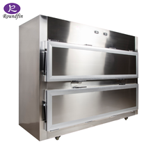 High quality side double door mortuary refrigerator corpse refrigerator 2 cadavers