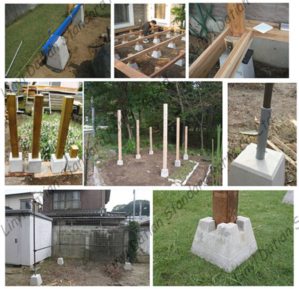 how to build a deck on concrete blocks