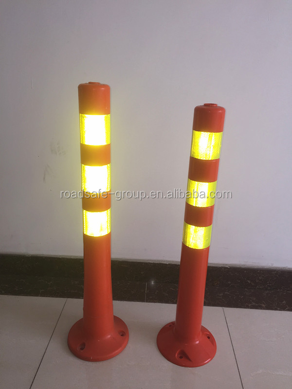 Flexible delineator post plastic warning bollard traffic pole
