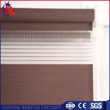 Top quality good light filtering fabric roller type and slat style roller blind windows