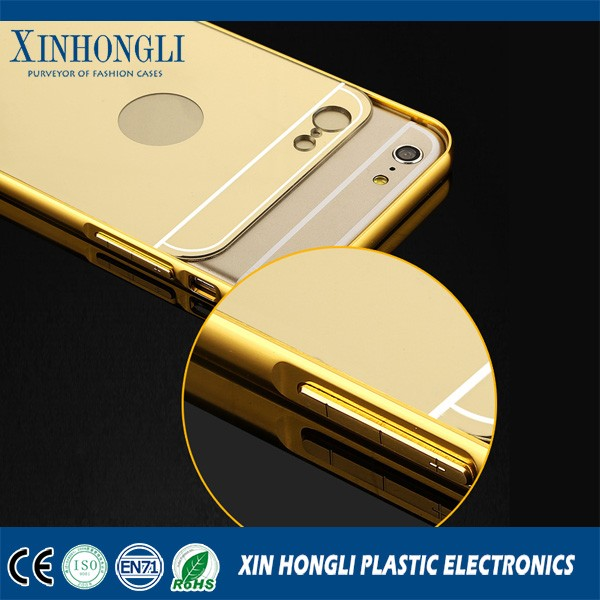 Electroplate Mirror Case For Iphone6/6 plus,For Samsung Galaxy A7,Fashion Crystal Mirror PC Case