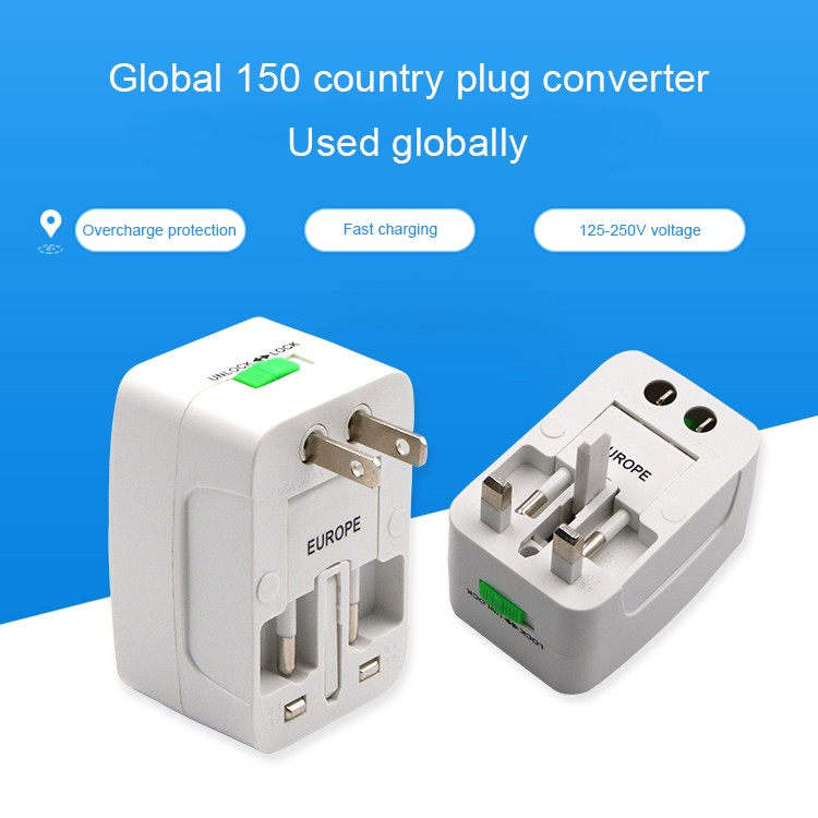 Hot sale  International Adapter Universal World Wide Travel Smart Charger Adapter Plug