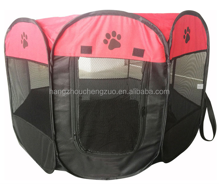 "Hot Selling 29""X29""X17"" Foldable Pet Tent for Camping,CZ-010 Pet Playpen 8 Panel Exercise Puppy Dog Fabric Pet Tent,Pet Playpen"