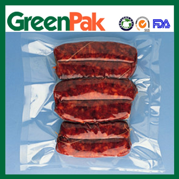 vacuum food bag packing cooking meat made in China