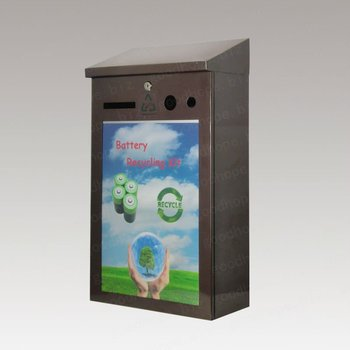 GH-B04-P galvanized iron used battery recycle box with advertising board