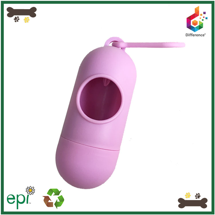 Hot selling pill shaped pet clean product dog waste bag dispenser