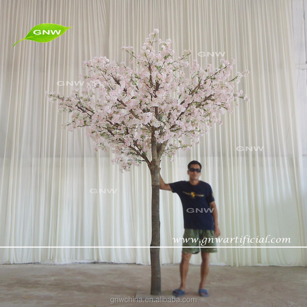 GNW BLS1609015 High quality Pink Silk cherry blossom fake tree for wedding