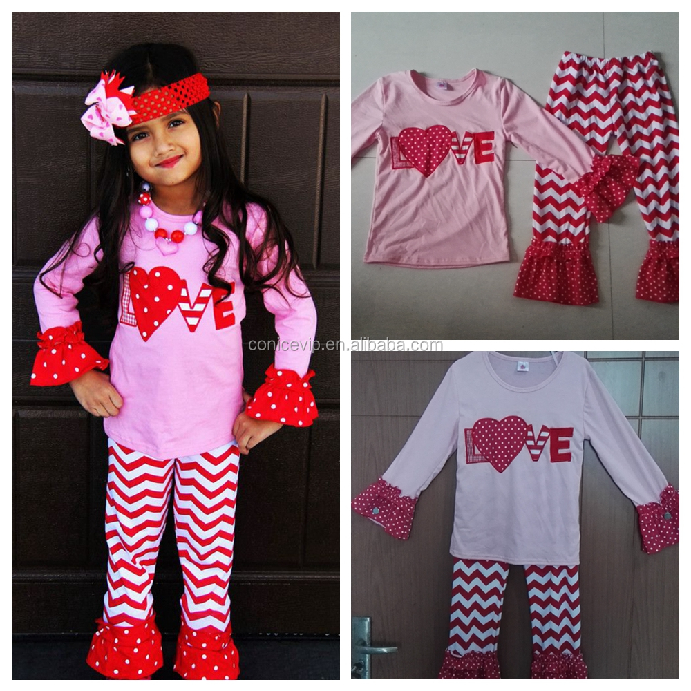 2016 wholesale childrens boutique clothing valentines day