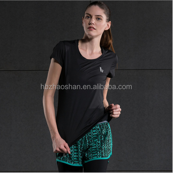 Female models Quick drying custom T-shirt Outdoor sports breathable speed dry tight clothes