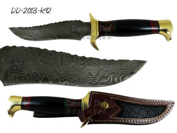 Damascus Steel Knife DD-2013-K92 Brass Guard and Pommel