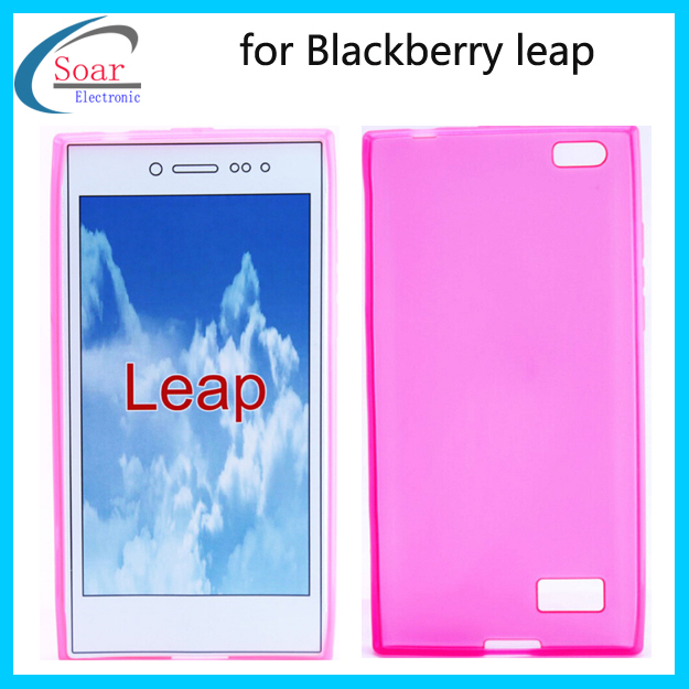 High Quality Frosted Silicone Soft TPU Shell Pudding Case Back Cover For Blackberry leap