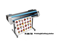 High performance eco solvent printer cutter/printing machine