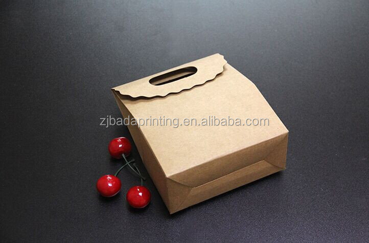 Recyclable Gift Box Kraft Paper Box, Bakery Cake Biscuits Packaging Boxes
