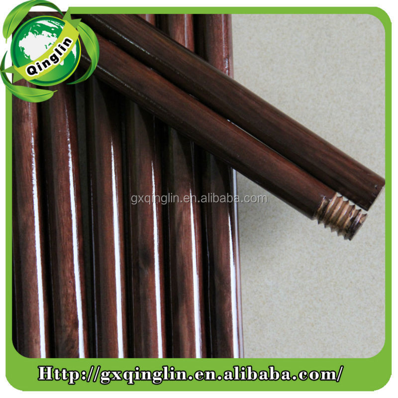 House cleaning tools lacquered Wood Handle with Threaded