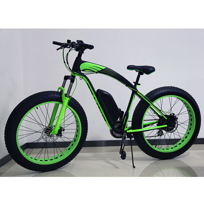"China cheap 36V 250W lithium battery 26"" fat tires electric moped beach bicycle for sale"